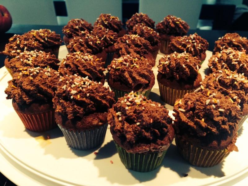 braune Cupcakes